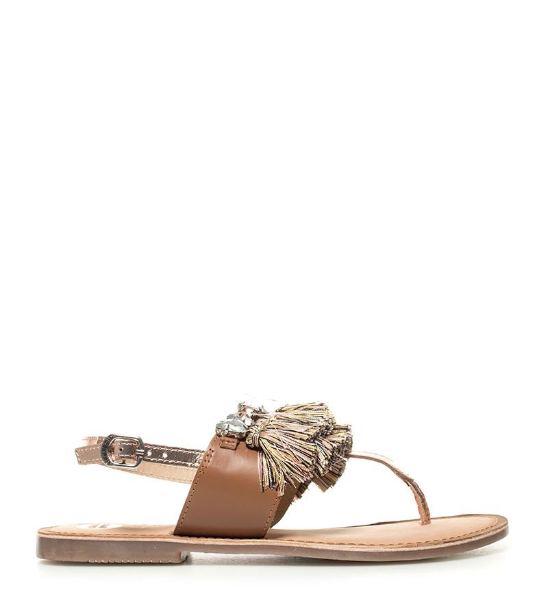 Gioseppo - Sandalias de piel Hanna marrón Barato Tienda de liquidación de envío gratis CWtn44z