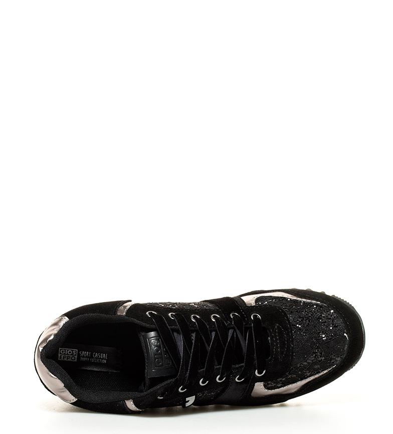 Zapatillas Winka Gioseppo 6cm interna negro suela cuña Altura q55w74xrd