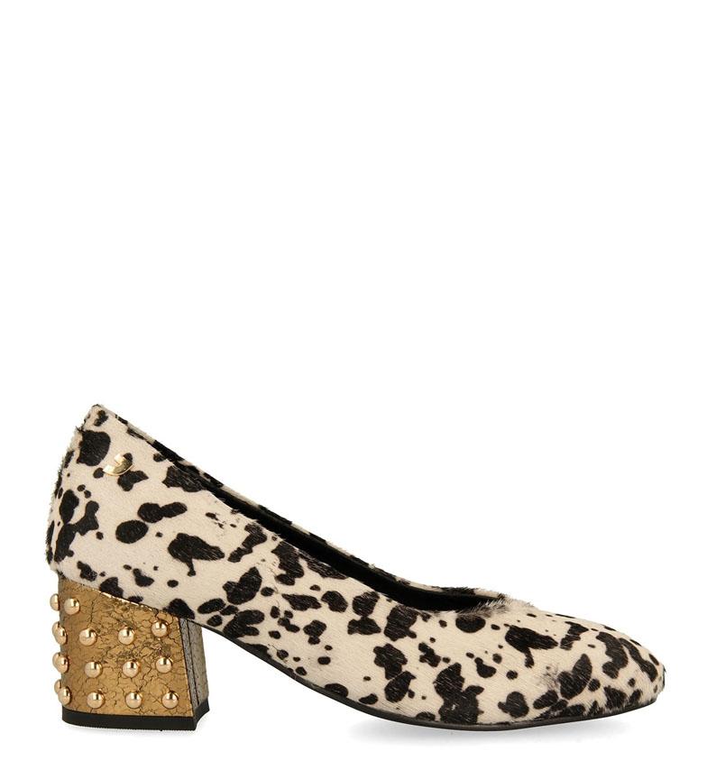 Comprar Gioseppo Scarpe Alice in pelle bianca, nere-Altezza tacco: 6,5 cm-