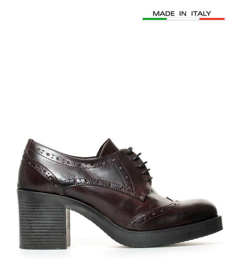 piel Zapatos tacón de Gioseppo br 7cm Altura Rowena br burdeos qAaw7E71xC