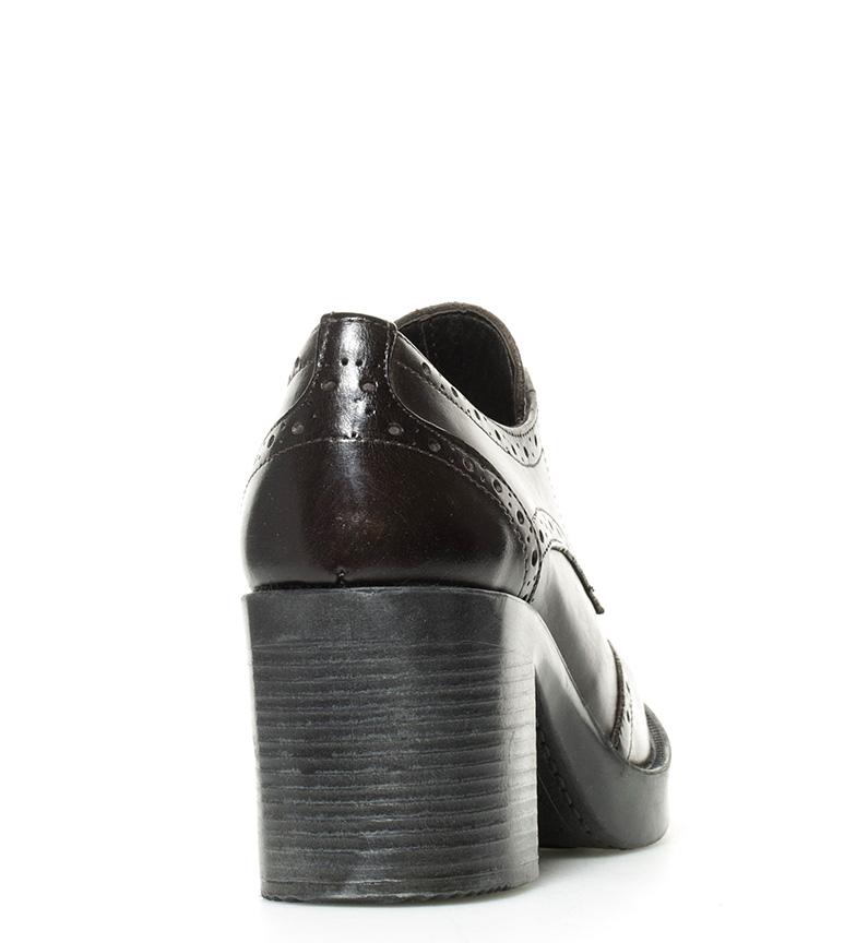 Zapatos Gioseppo tacón Rowena 7cm Altura chocolate de br piel br qCdwPxCR