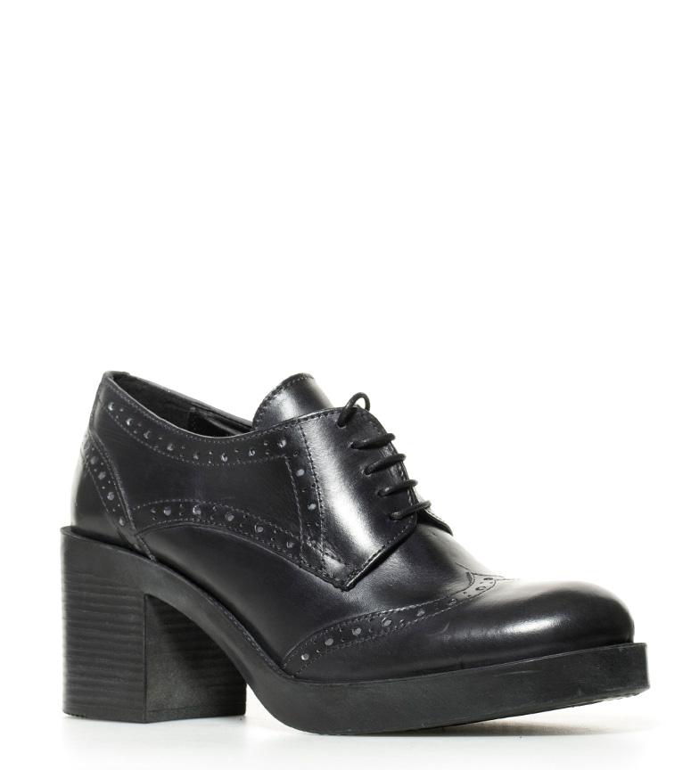 de br tacón br Gioseppo negro piel Rowena 7cm Altura Zapatos g8wqwPnx5