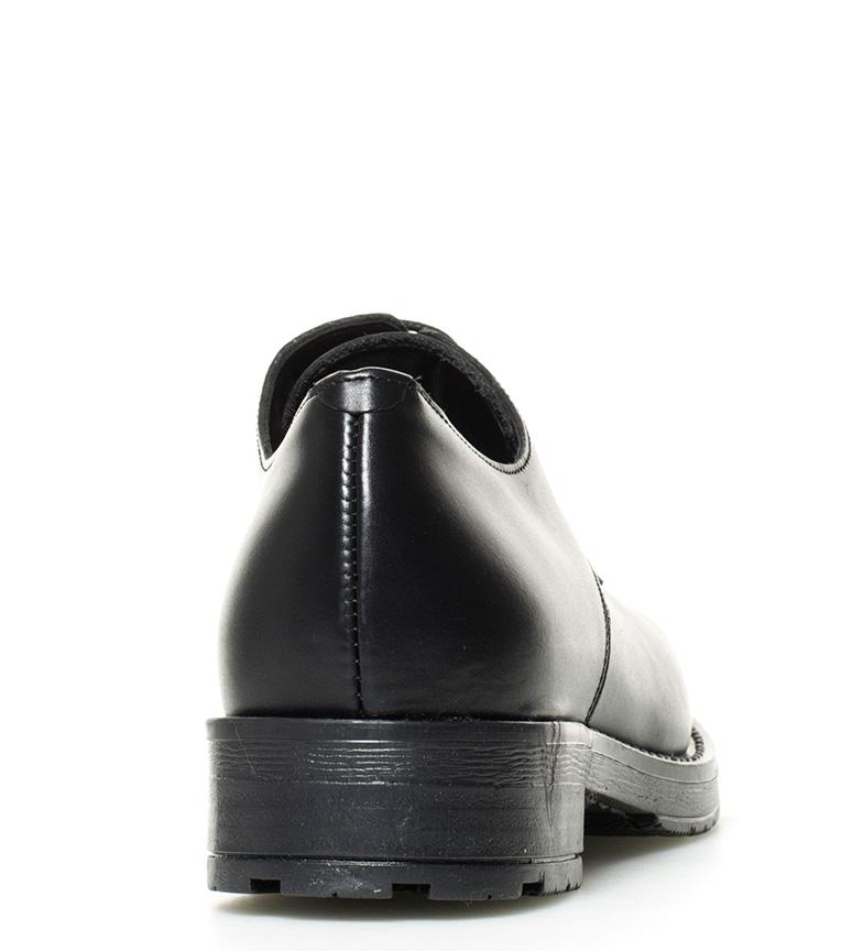 Gioseppo Silka Gioseppo Zapatos de de Zapatos piel piel negro 6P6Ug7