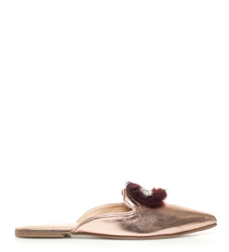 Zapatos Gioseppo Mileva piel bronce de mule 4qwBqd