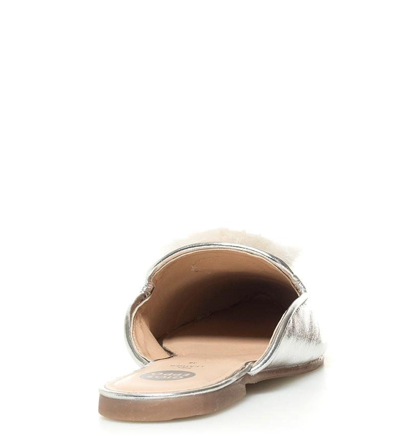 De Piel Mileva Mule Gioseppo Plata Zapatos I2YWD9EH