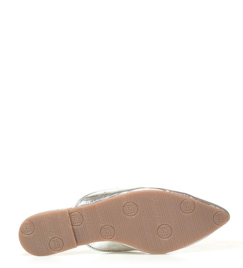 Gioseppo Mileva Zapatos piel de plata mule 64azqr6
