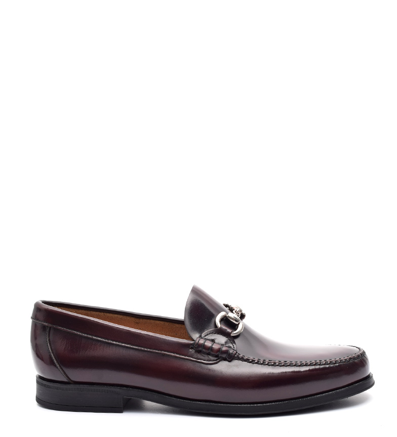 G&P Cobbler Mocasines de piel Carter burdeos