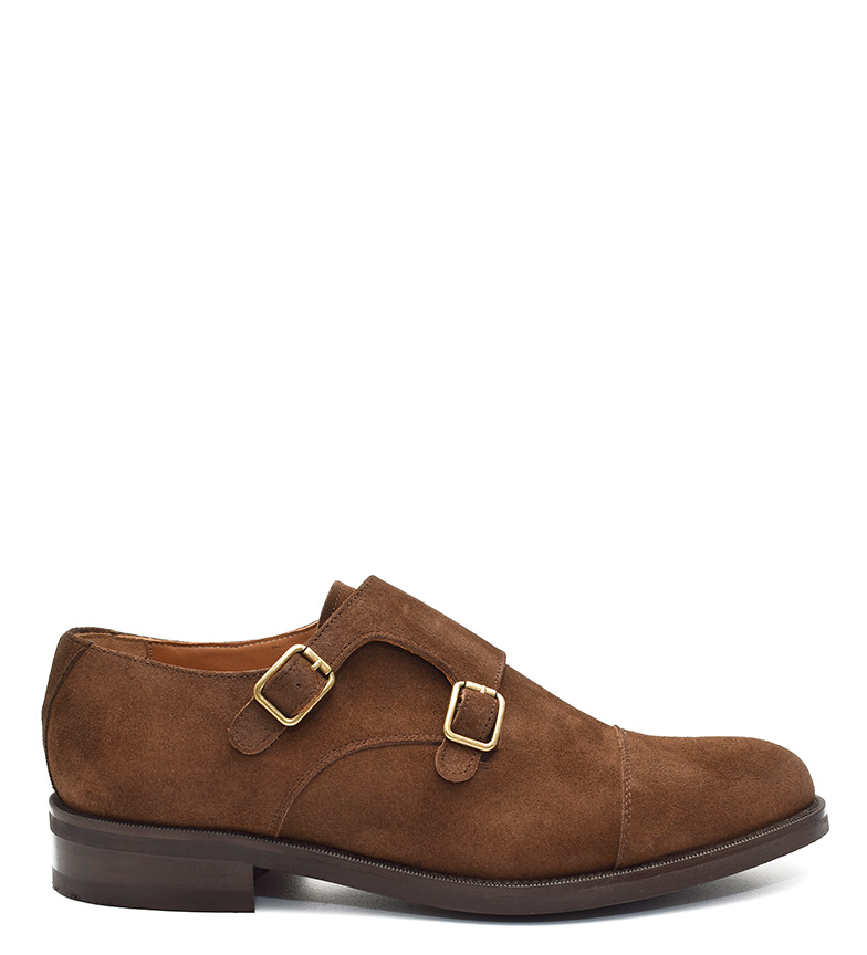 Comprar G&P Cobbler Chaussures en daim marron Lusan -Suela Cuir-