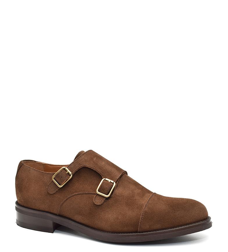 G&P Cobbler Zapatos de ante Lusan marrón Suela de cuero