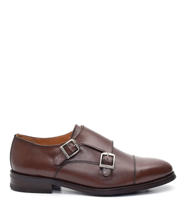G&P Cobbler Zapatos de piel Ismal marrón Suela de goma