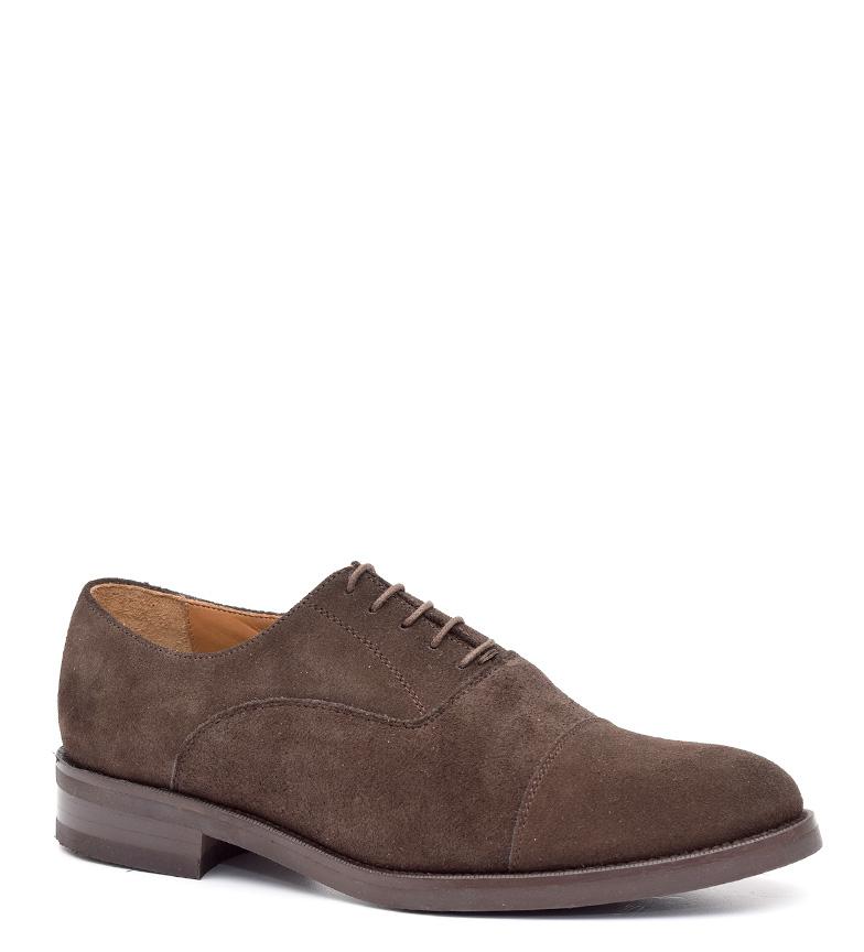 G&P Cobbler Zapatos de piel Marnó marrón Suela de cuero