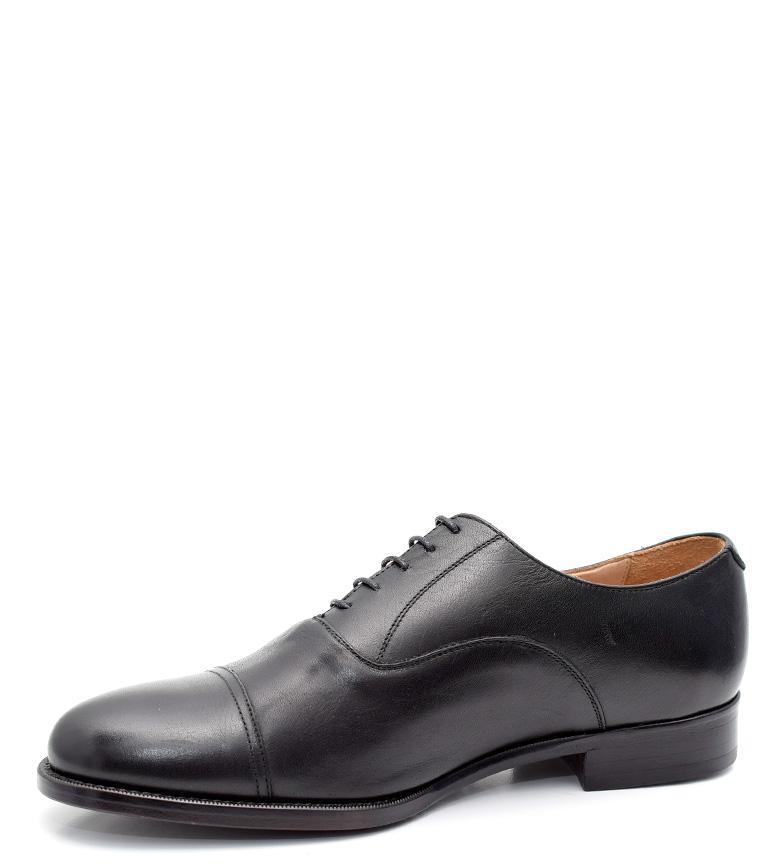 G&P Cobbler Zapatos de piel Dembe negro Suela de goma