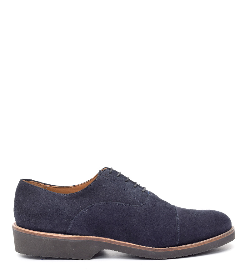Comprar G&P Cobbler Donald blue leather shoes - ultra-thin rubber sole -