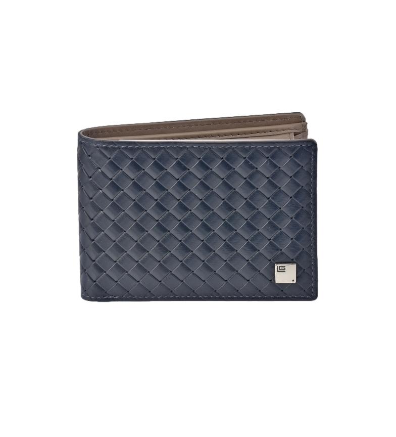 Comprar Guy Laroche American Braided Leather GL-3715 with blue wallet -11x8x1cm