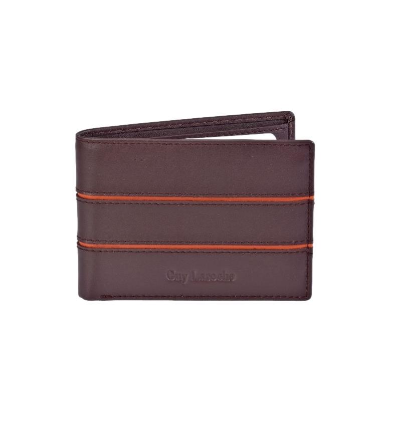 Comprar Guy Laroche American Leather GL-3704 double burgundy card holder -11x8x1,5cm