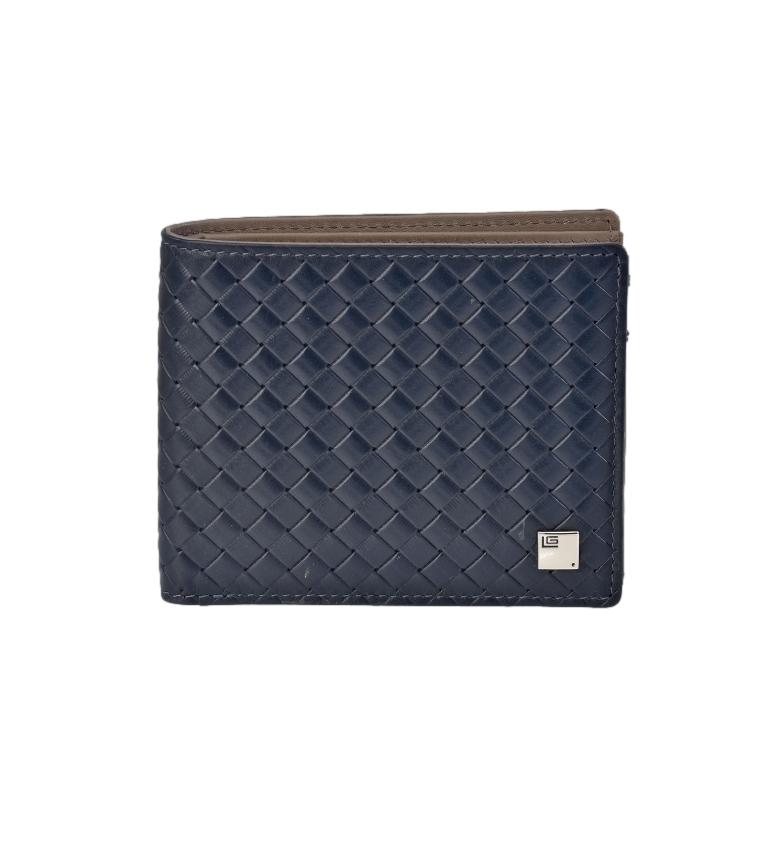 Comprar Guy Laroche Couro Trançado Americano GL-3714 azul -11x9x1,cm