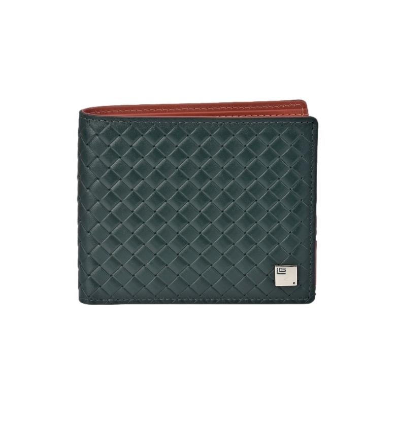 Comprar Guy Laroche American Braided Leather GL-3714 green -11x9x1,cm