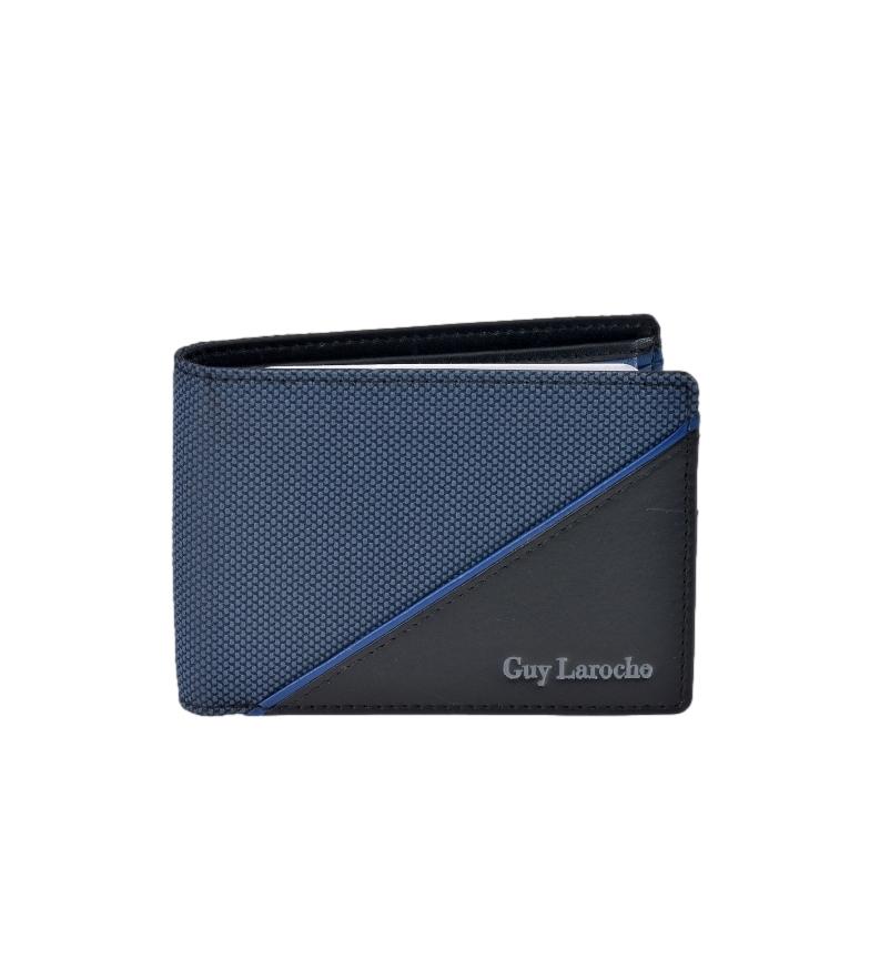 Guy Laroche Couro Americano GL-3724 com carteira azul -11x8x2cm