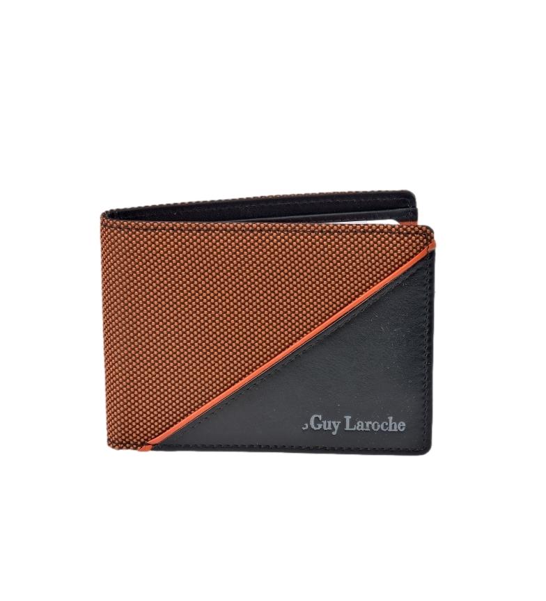 Comprar Guy Laroche Americano de piel GL-3725 naranja -11,5x8x1,5cm-