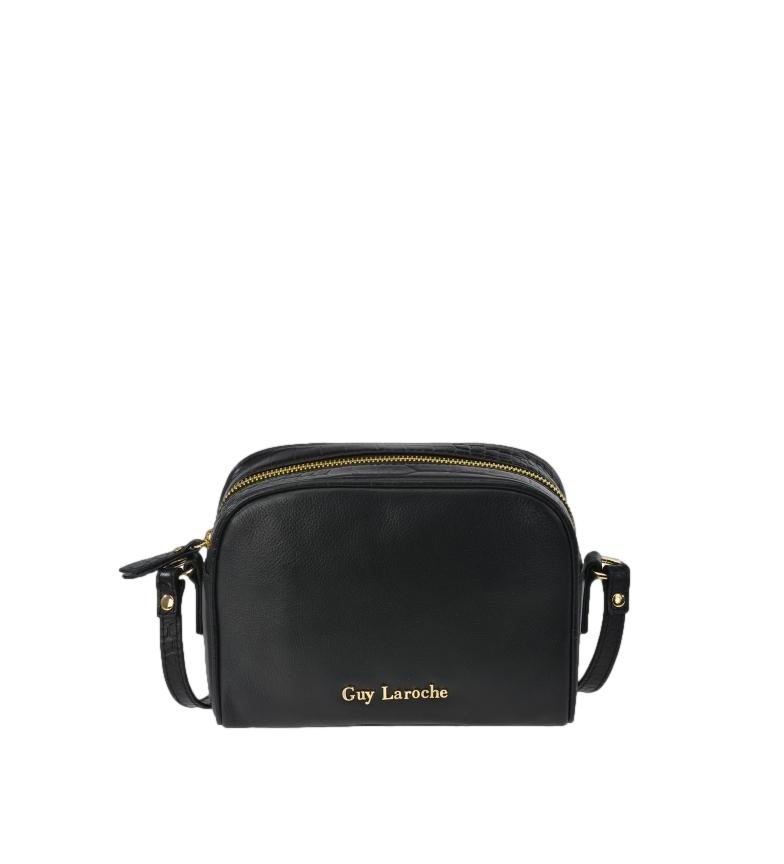 Comprar Guy Laroche Bolso bandolera de piel GL-12446 negro -20x16x6cm-