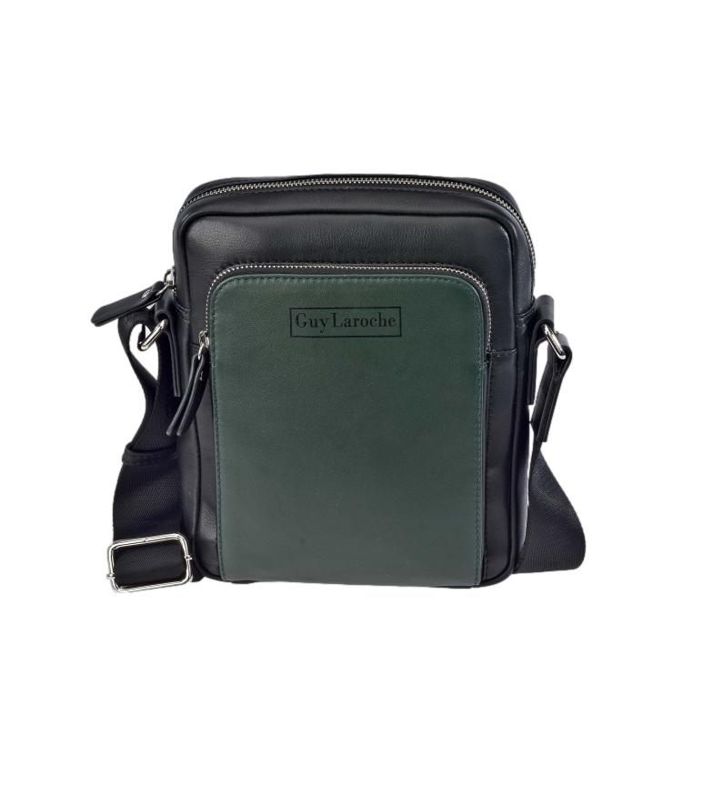 Comprar Guy Laroche Leather shoulder bag GL-50 green -18x23x6cm