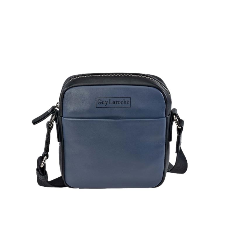 Guy Laroche Small leather shoulder bag GL-60 blue -19x21x6cm