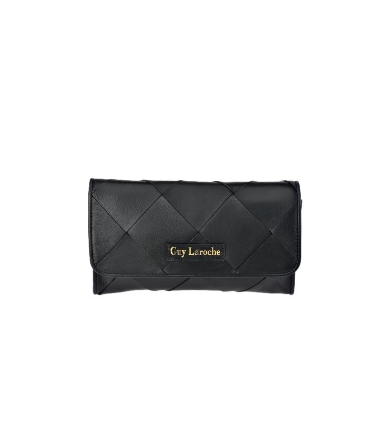 Comprar Guy Laroche GL-12384 borsa a mano in pelle nera -25x14x4cm-
