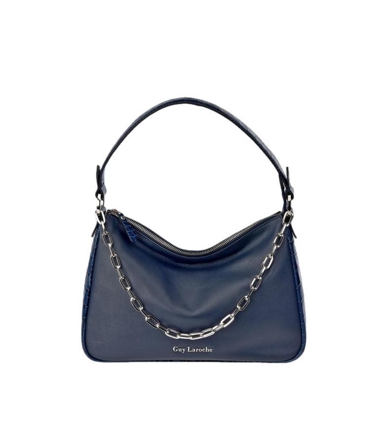 Comprar Guy Laroche Saco de couro GL-12442 corrente de metal azul -34x23x9cm
