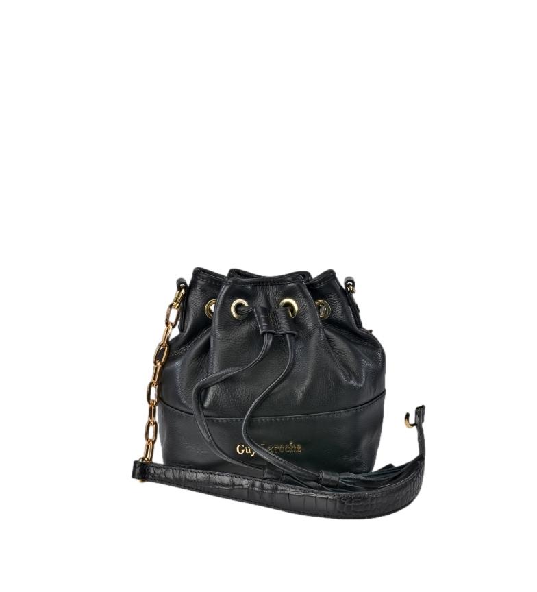 Guy Laroche Judas leather bag GL-12444 black -19x12x19cm