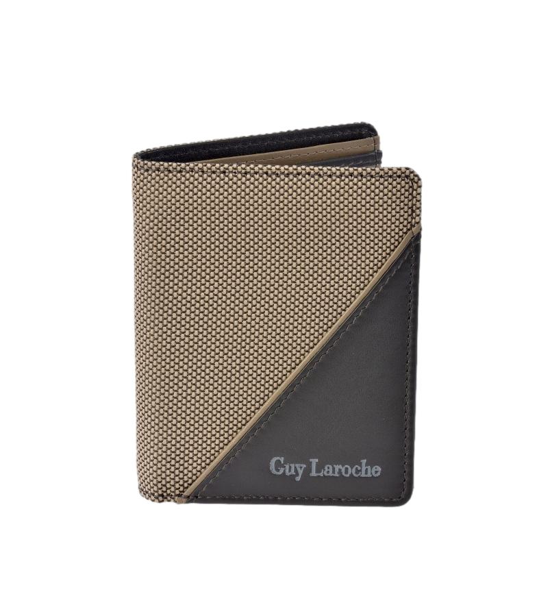 Comprar Guy Laroche Carteira de couro GL-3722 bege -8,5x10,5x1,5cm