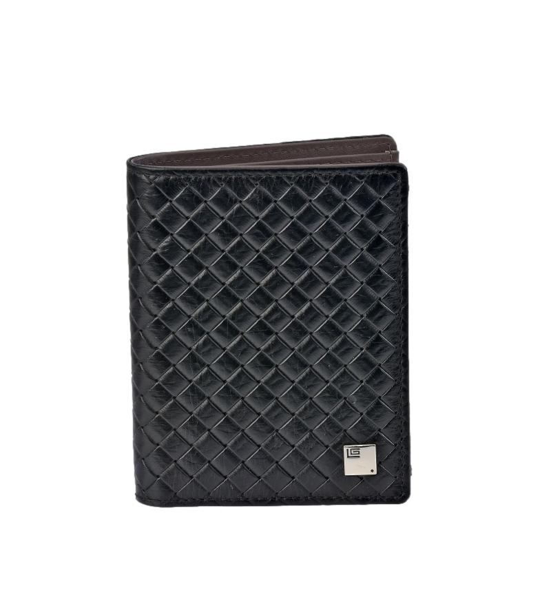 Comprar Guy Laroche Carteira de couro trançado GL-3711 preto -8,5x11x1cm
