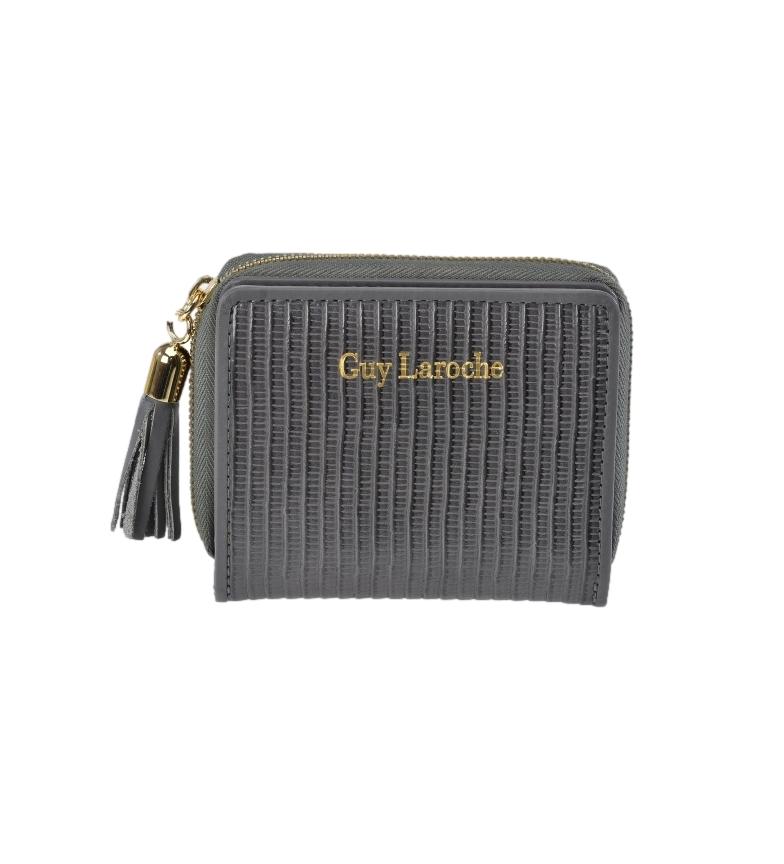 Comprar Guy Laroche Leather coin purse GL-7474 grey -10x8.5x2.5cm