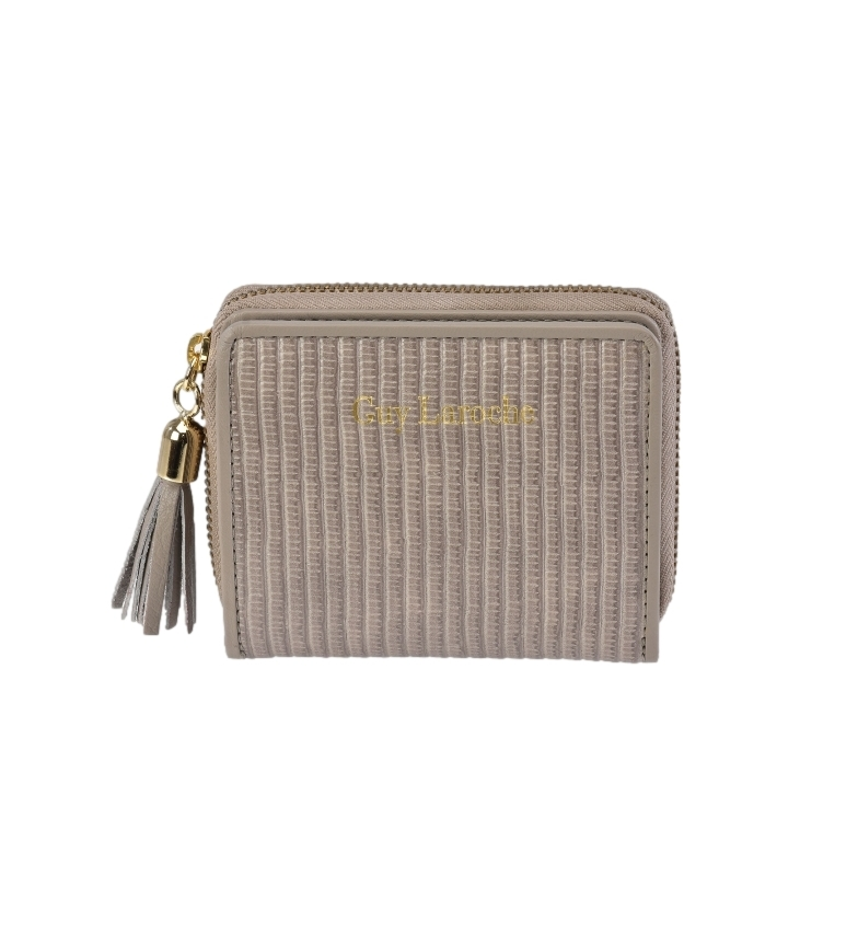 Comprar Guy Laroche Leather wallet GL-7474 taupe -10x8.5x2.5cm