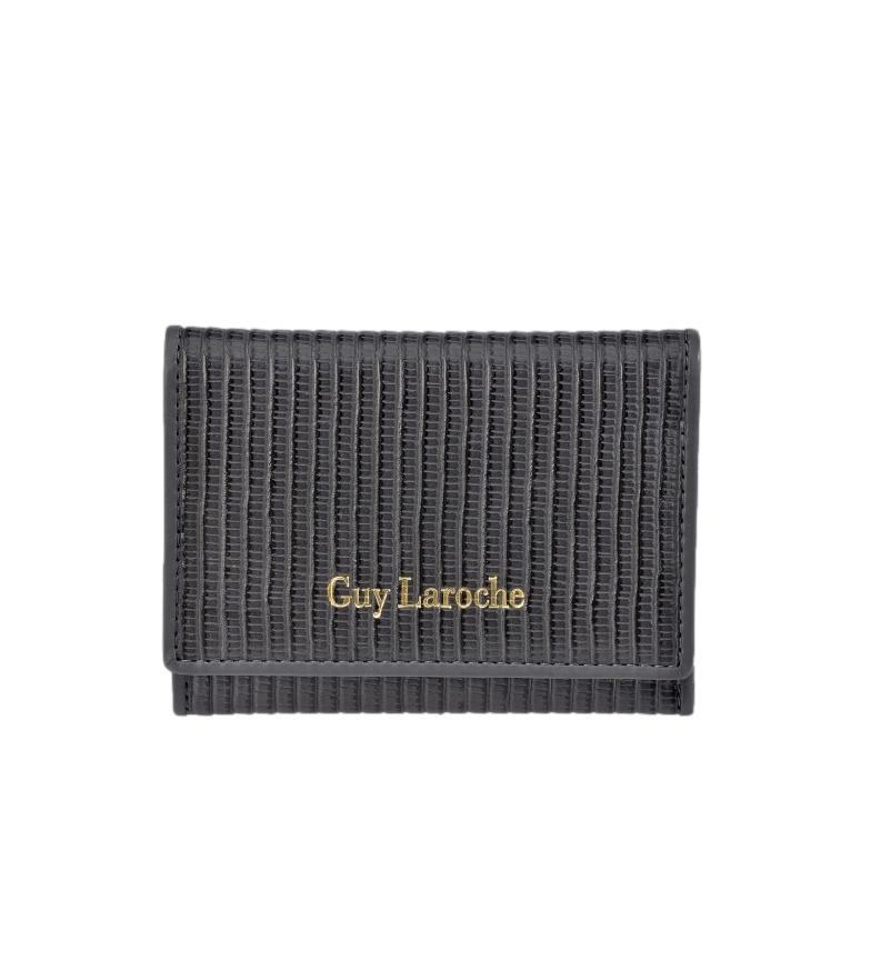 Guy Laroche Porte-monnaie en cuir GL-7481 gris -11,5x8,5x1cm