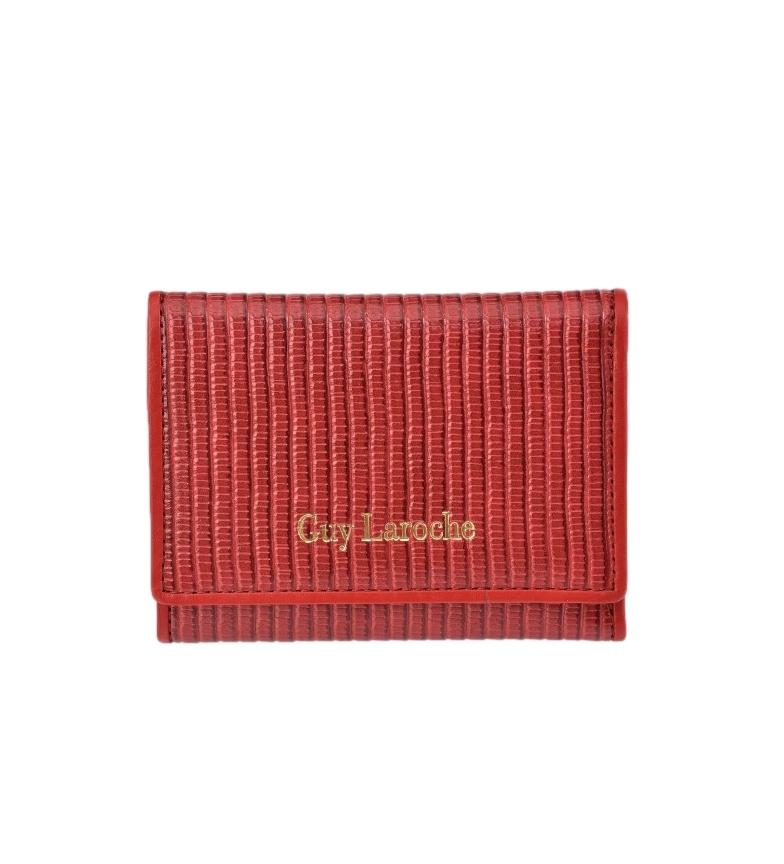Guy Laroche GL-7481 borsa in pelle rossa -11,5x8,5x1cm-