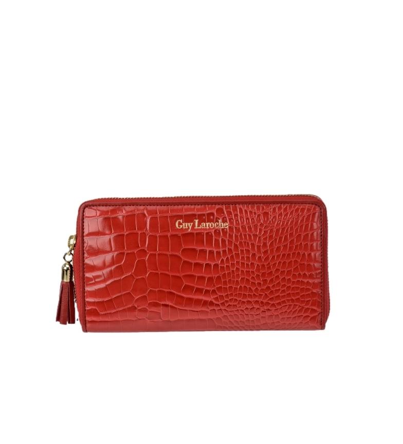 Guy Laroche Porte-monnaie en cuir GL-7490 rouge -20x10x2cm