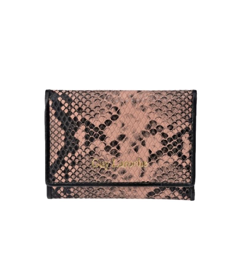 Comprar Guy Laroche Snake print leather coin purse GL-7461 pink -11.8x8.5x1cm