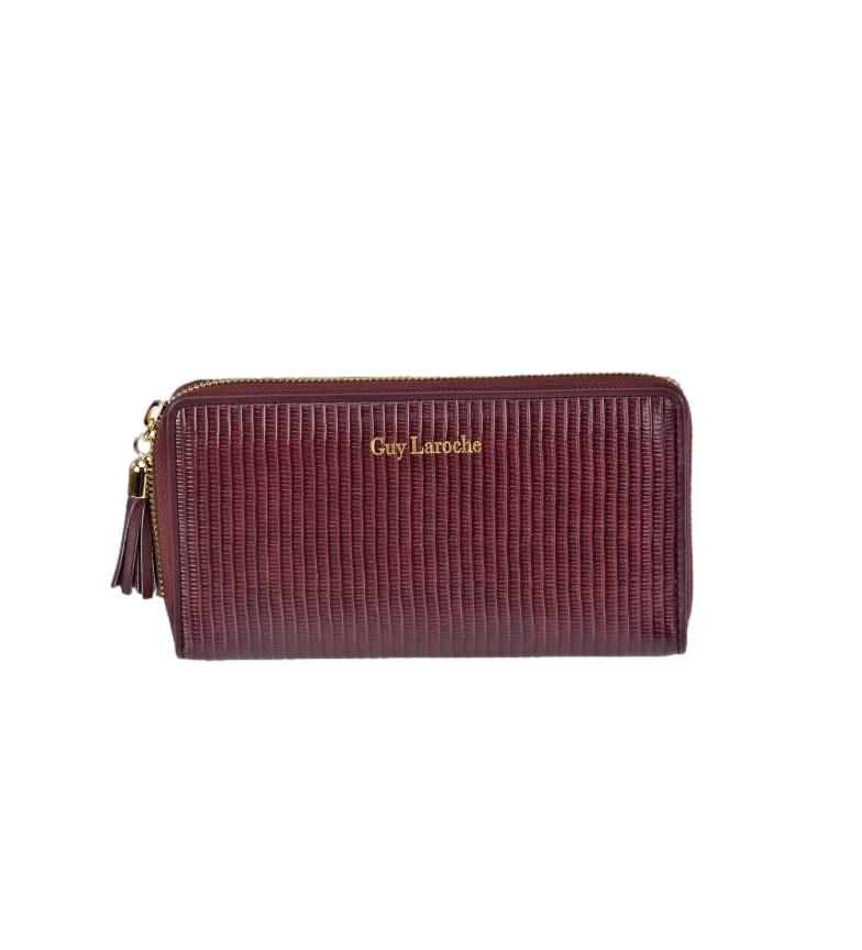 Comprar Guy Laroche Leather coin purse GL-7470 burgundy -19x10x2cm