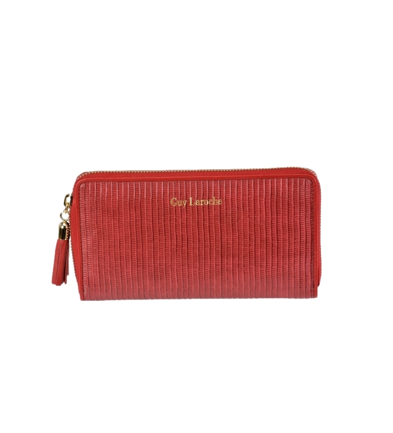 Comprar Guy Laroche Leather coin purse GL-7470 red -19x10x2cm