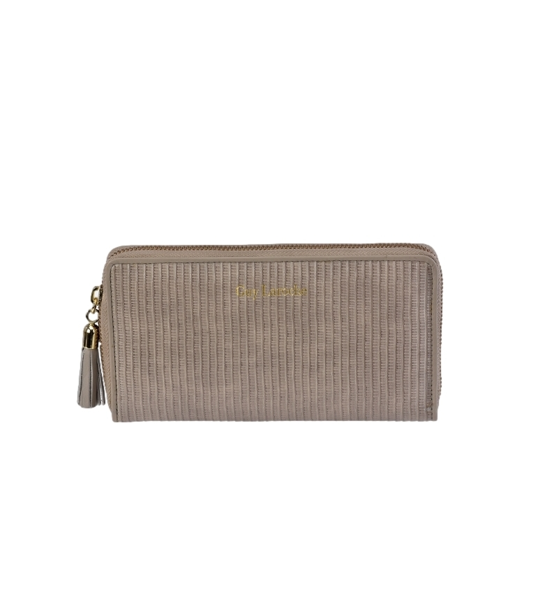 Comprar Guy Laroche Leather wallet GL-7470 taupe -19x10x2cm