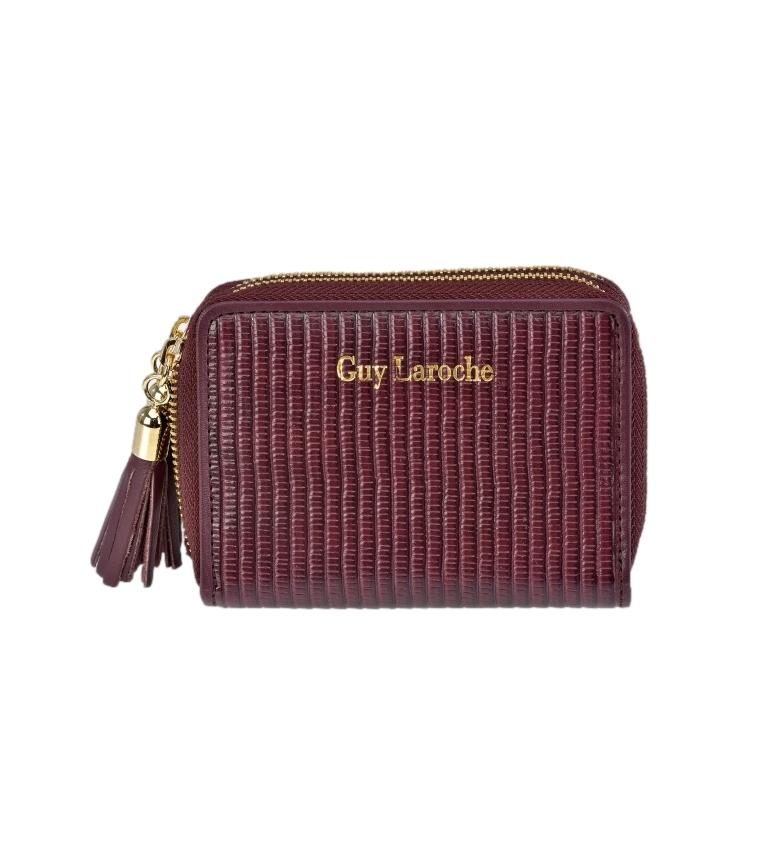 Comprar Guy Laroche Leather wallet GL-7477 burgundy -11x8.5x3cm