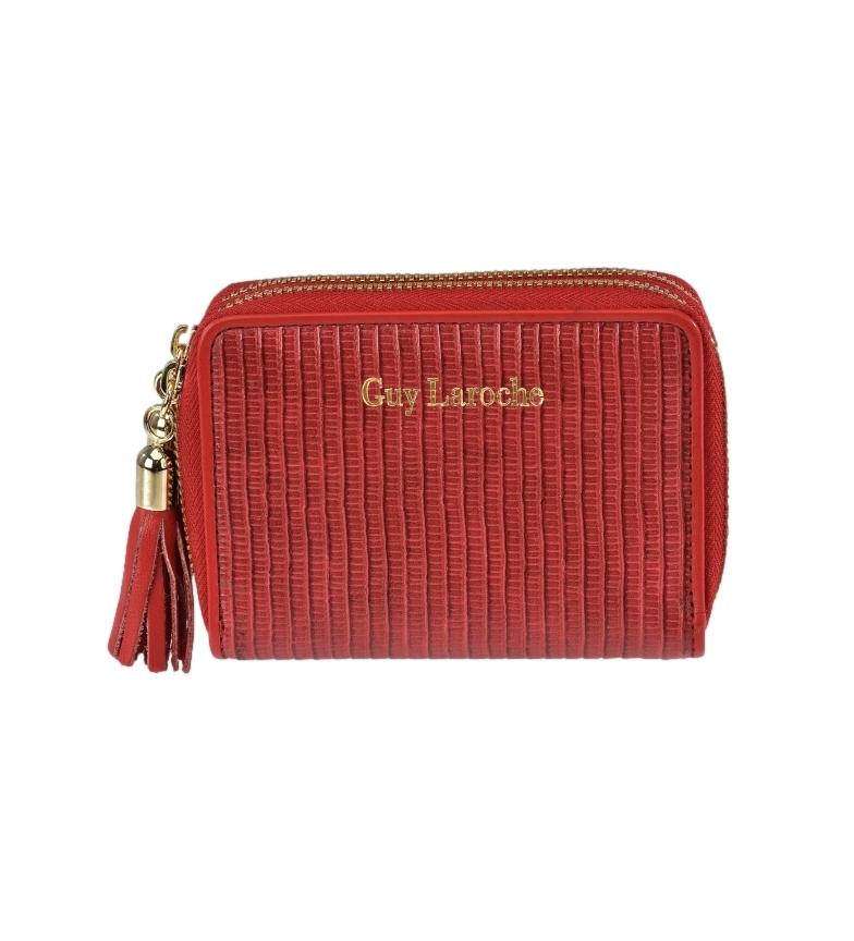 Comprar Guy Laroche Leather coin purse GL-7477 red -11x8.5x3cm