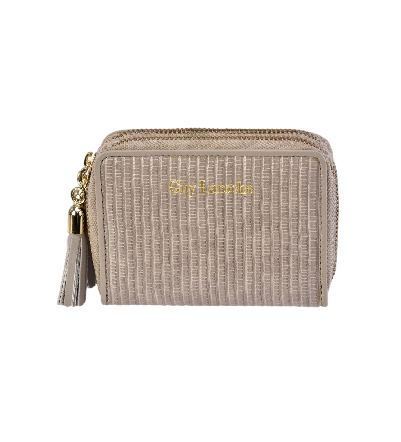 Comprar Guy Laroche Leather wallet GL-7477 taupe -11x8.5x3cm