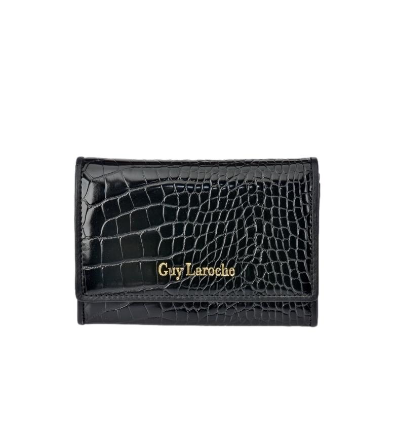 Guy Laroche Leather wallet GL-7495 black -13x9x2cm