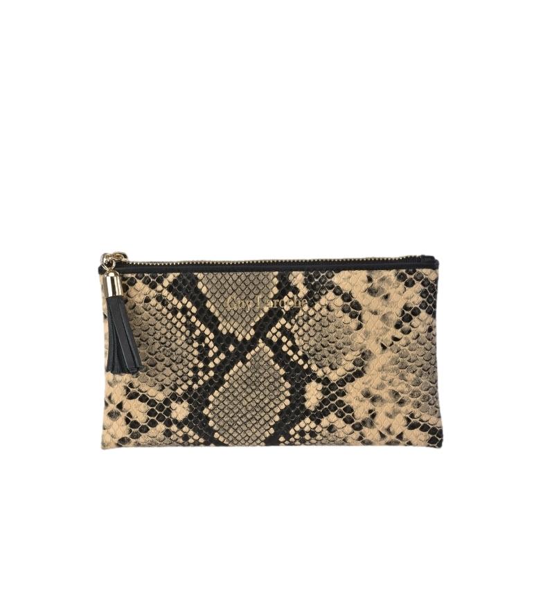 Comprar Guy Laroche Snake print leather coin purse GL-7464 beige -17x9.5x1cm