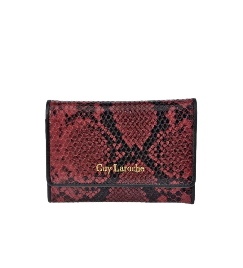 Comprar Guy Laroche Monedero pequeño de piel grabado serpiente GL-7455 burdeos -13x9x2cm-