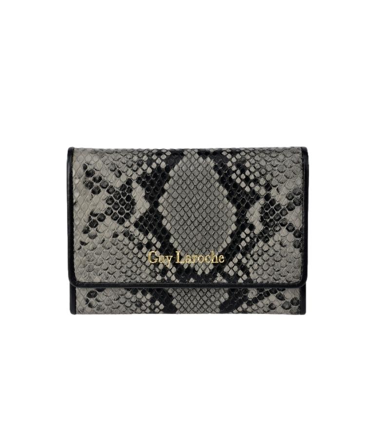 Comprar Guy Laroche Portafoglio piccolo in pelle incisa serpente grigio GL-7455 -13x9x2cm-