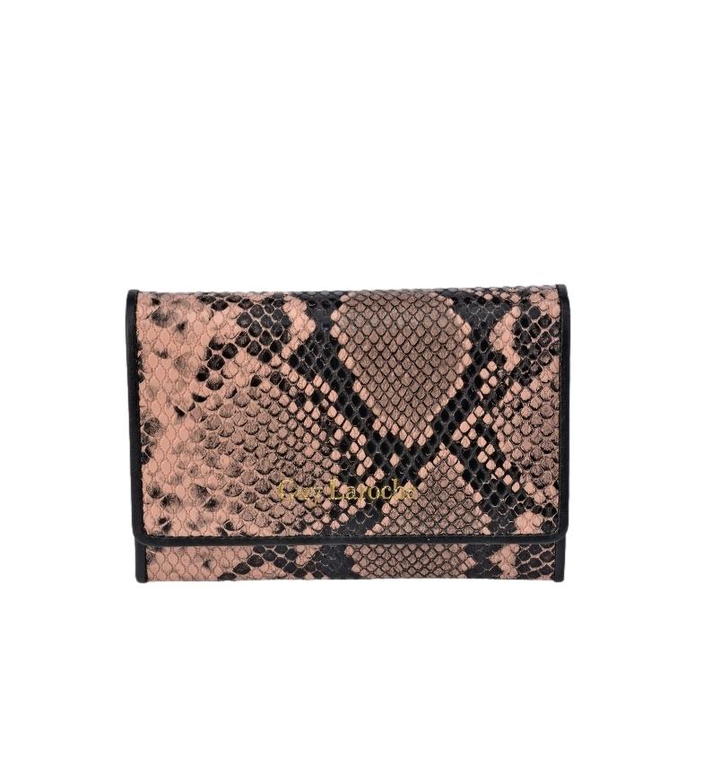 Guy Laroche Small snake skin wallet GL-7455 pink -13x9x2cm
