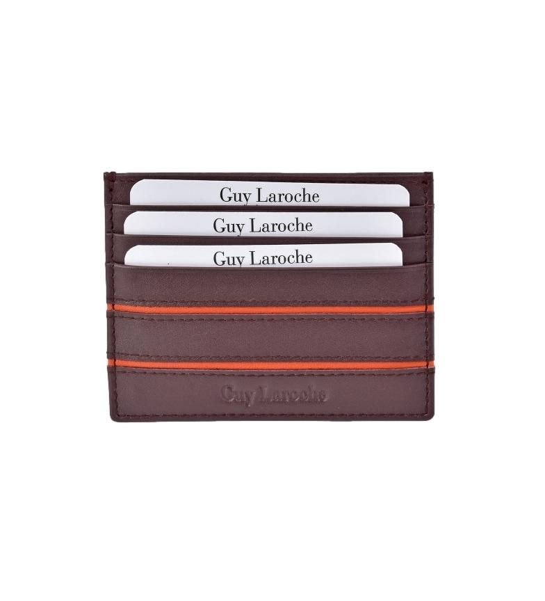 Comprar Guy Laroche Leather Cardholder GL-3706 burgundy -9,5x7x2cm