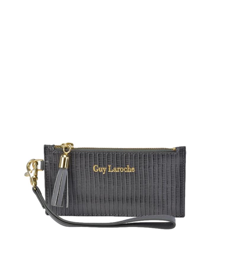 Comprar Guy Laroche Leather Cardholder GL-7479 grey -14.5x7.5x1cm